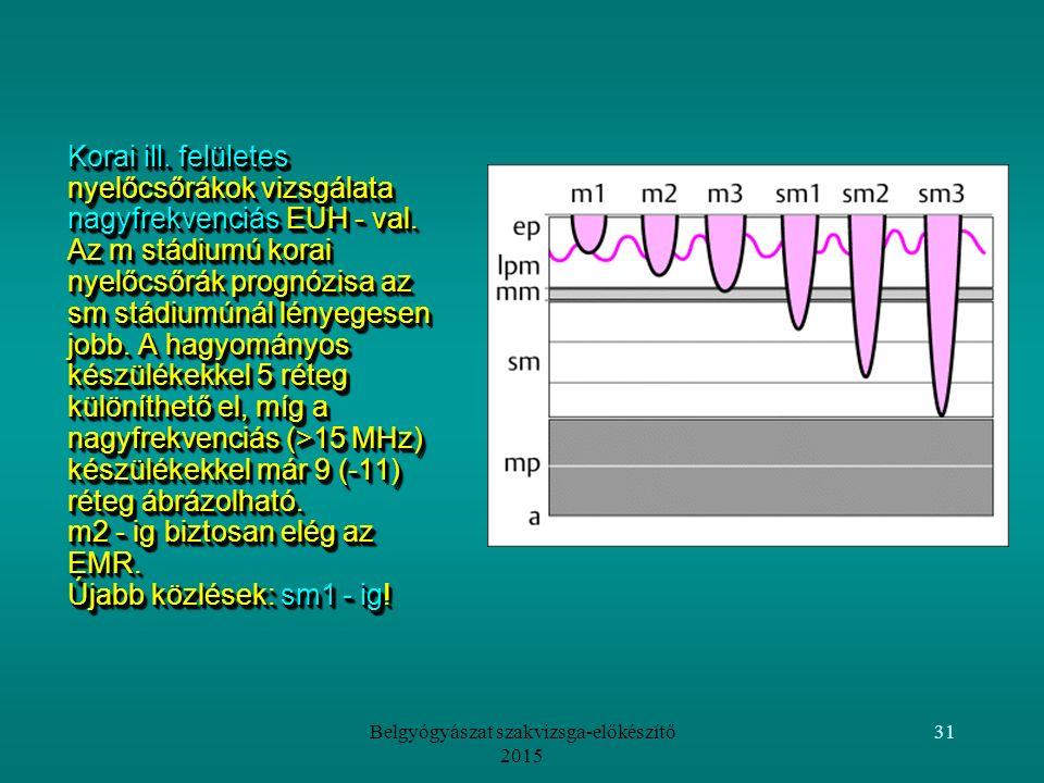 Belgyógyászat szakvizsga-előkészítő 2015 31 Korai ill.