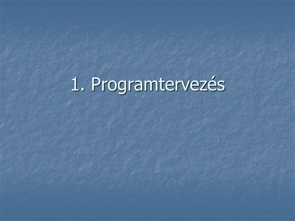 1. Programtervezés