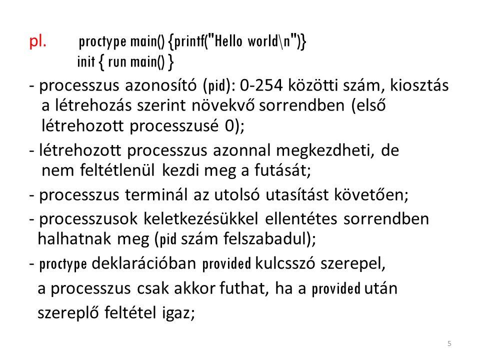 pl. proctype main() {printf(