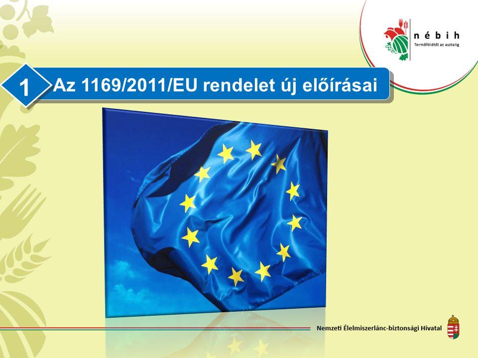 Az 1169/2011/EU rendelet új előírásai 1