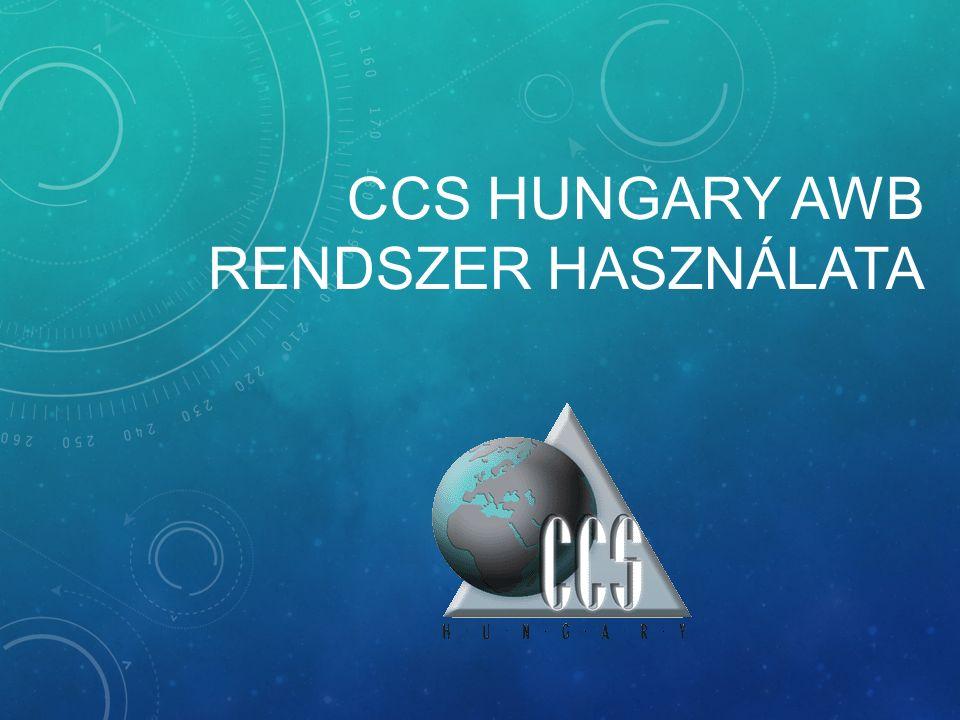 CCS HUNGARY AWB RENDSZER HASZNÁLATA