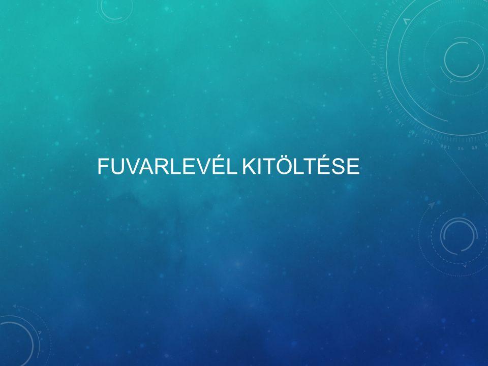 FUVARLEVÉL KITÖLTÉSE