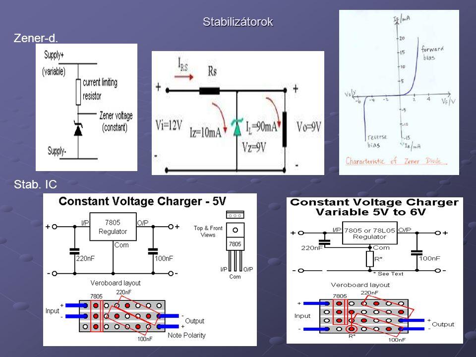HA5KFU Stabilizátorok Zener-d. Stab. IC
