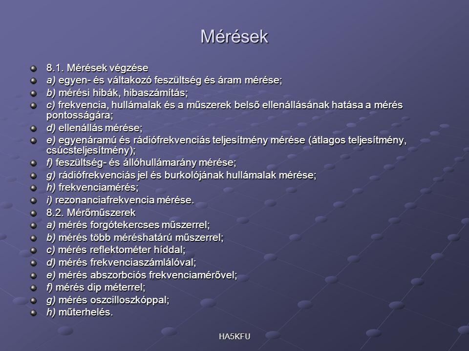 Mérések 8.1.