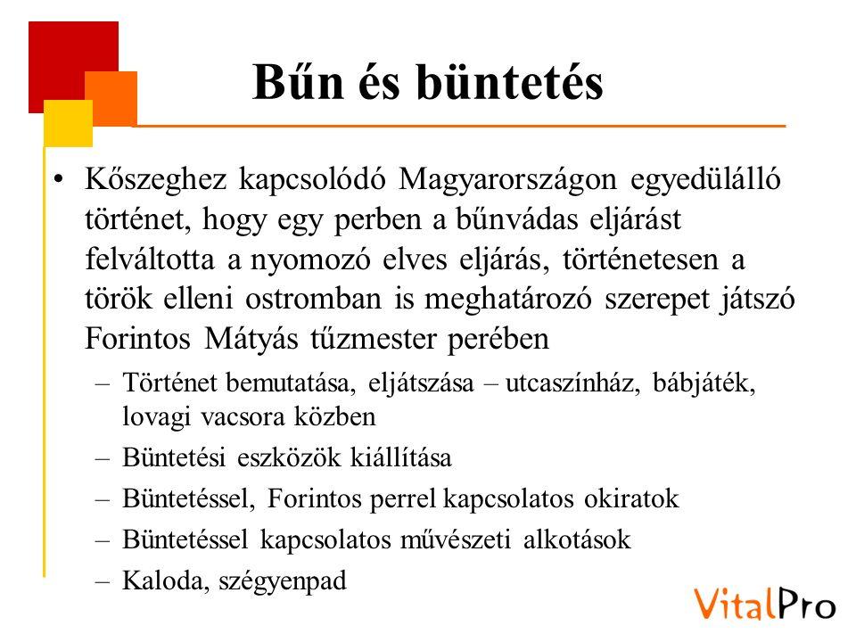 Bűn és büntetés Kőszeghez kapcsolódó Magyarországon egyedülálló történet, hogy egy perben a bűnvádas eljárást felváltotta a nyomozó elves eljárás, tör
