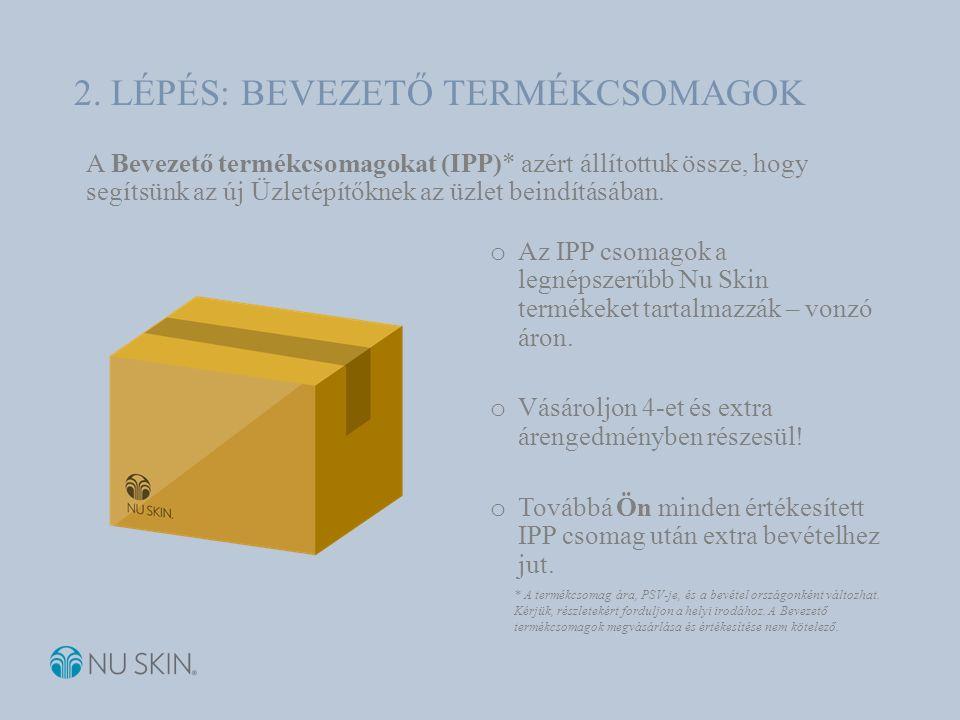 A Bevezető termékcsomagokat (IPP)* azért állítottuk össze, hogy segítsünk az új Üzletépítőknek az üzlet beindításában.