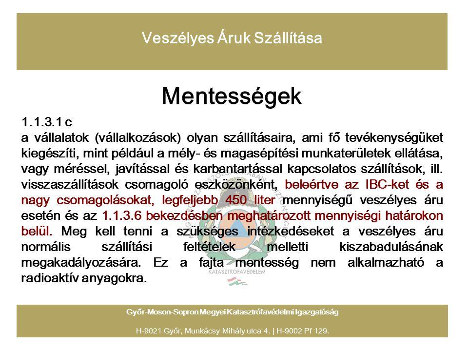 Győr-Moson-Sopron Megyei Katasztrófavédelmi Igazgatóság H-9021 Győr, Munkácsy Mihály utca 4.