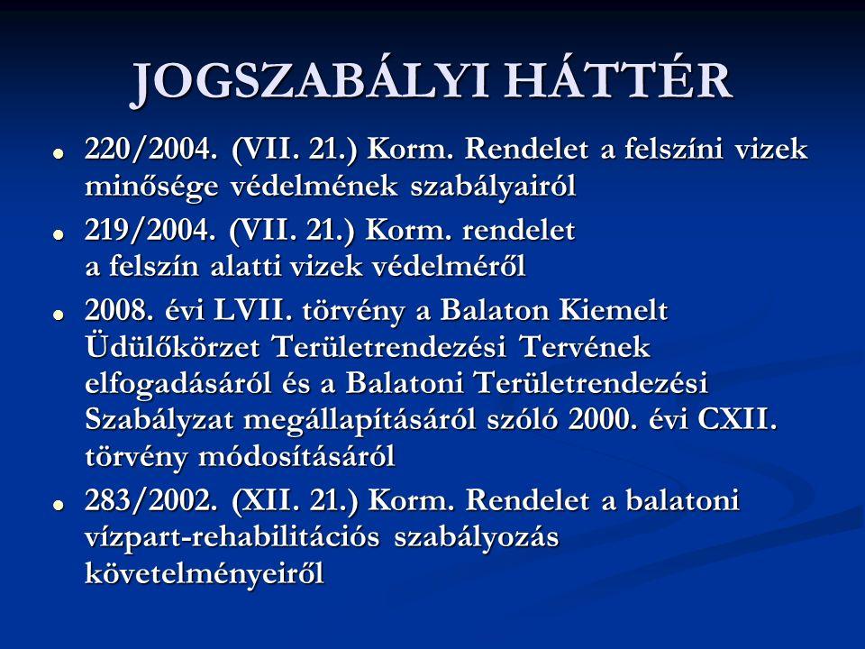 JOGSZABÁLYI HÁTTÉR  220/2004. (VII. 21.) Korm.