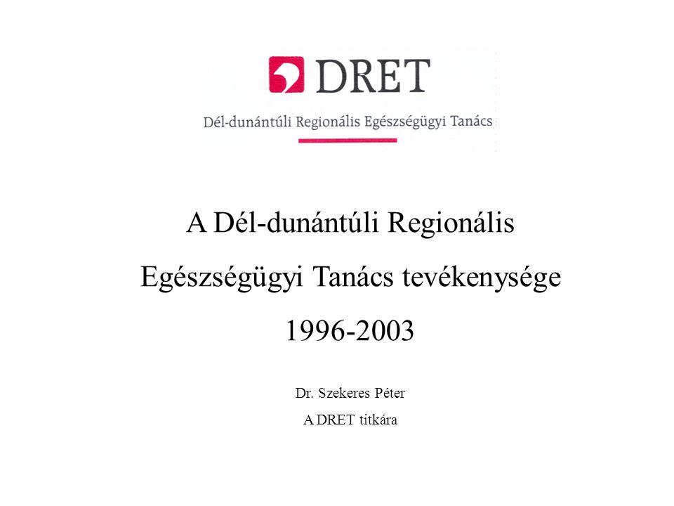 A Dél-dunántúli Regionális Egészségügyi Tanács tevékenysége 1996-2003 Dr.