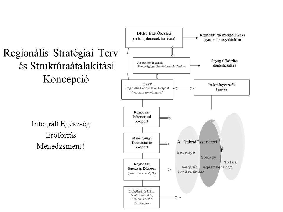 Regionális Stratégiai Terv és Struktúraátalakítási Koncepció Integrált Egészség Erőforrás Menedzsment !
