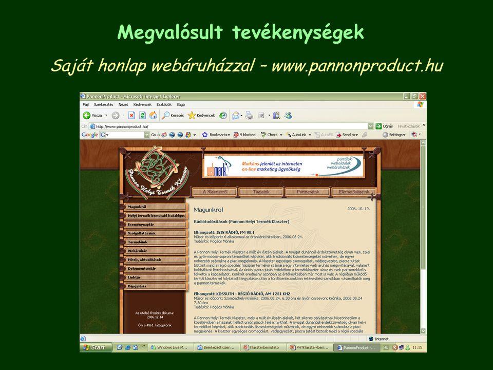Saját honlap webáruházzal – www.pannonproduct.hu