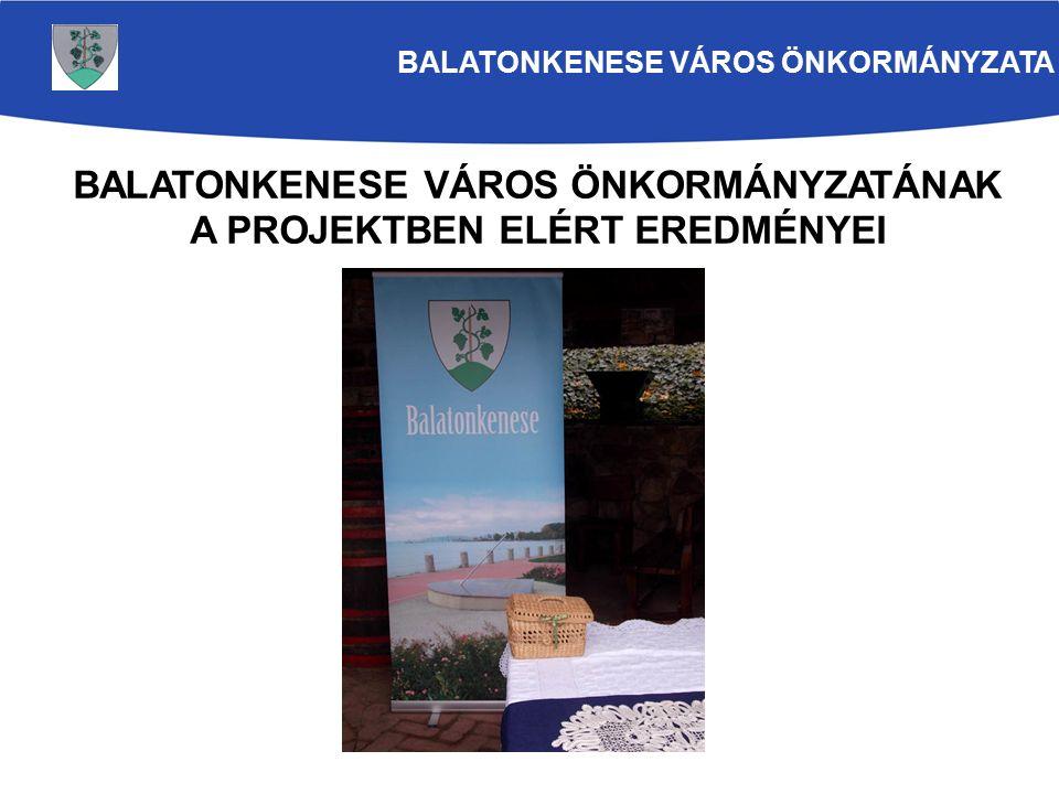 A területfejlesztési tanáccsal való együttműködés kialakítása Cselekvési terv készítése a Balaton Kiemelt Üdülőkörzet hagyományos foglalkozásai, kézművessége és kreatív ipara, valamint a Balaton Fejlesztési Tanács közötti együttműködésre vonatkozóan A szektorban érintett összes szereplő együttműködése A korábbi kutatások eredményeire építjük fel a szakértői munkacsoport munkáját BALATONKENESE VÁROS ÖNKORMÁNYZATA