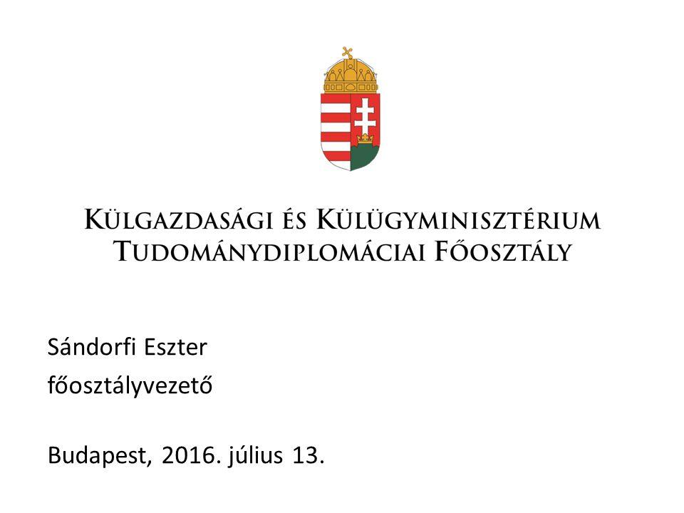 Sándorfi Eszter főosztályvezető Budapest, 2016. július 13.