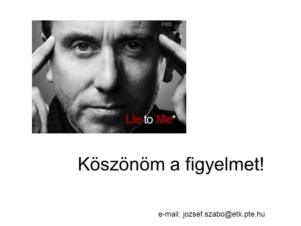 Köszönöm a figyelmet! e-mail: jozsef.szabo@etk.pte.hu