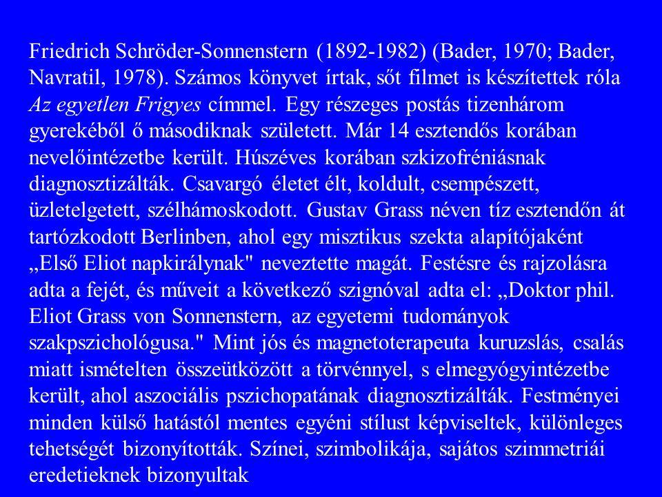 Friedrich Schröder-Sonnenstern (1892-1982) (Bader, 1970; Bader, Navratil, 1978). Számos könyvet írtak, sőt filmet is készítettek róla Az egyetlen Fri