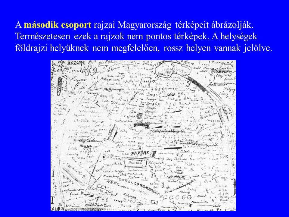 A második csoport rajzai Magyarország térképeit ábrázolják.