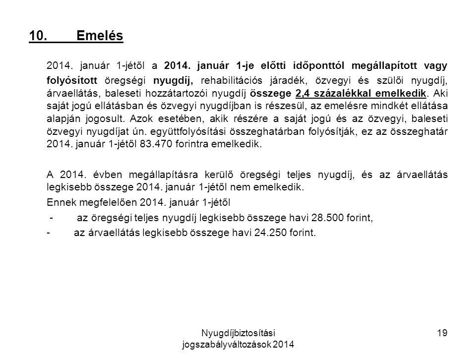 Nyugdíjbiztosítási jogszabályváltozások 2014 19 10.