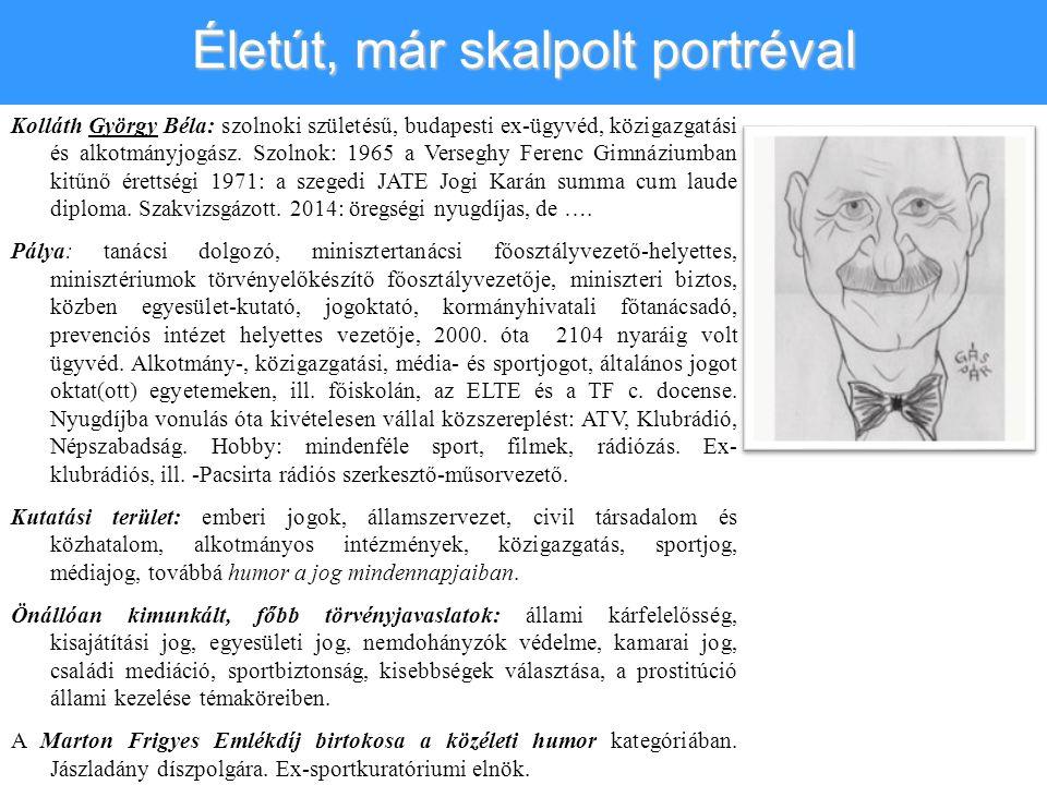 Kolláth György Béla: szolnoki születésű, budapesti ex-ügyvéd, közigazgatási és alkotmányjogász.