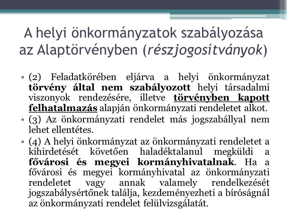 Kötelező önkormányzati feladat és hatáskörök Ötv.