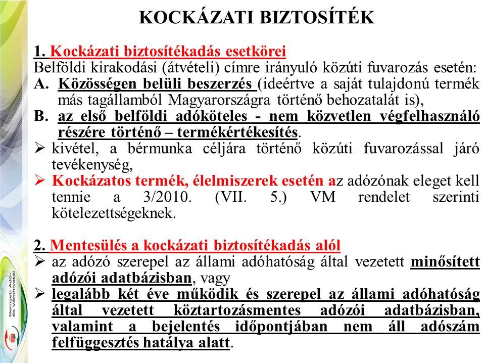 KOCKÁZATI BIZTOSÍTÉK 1.