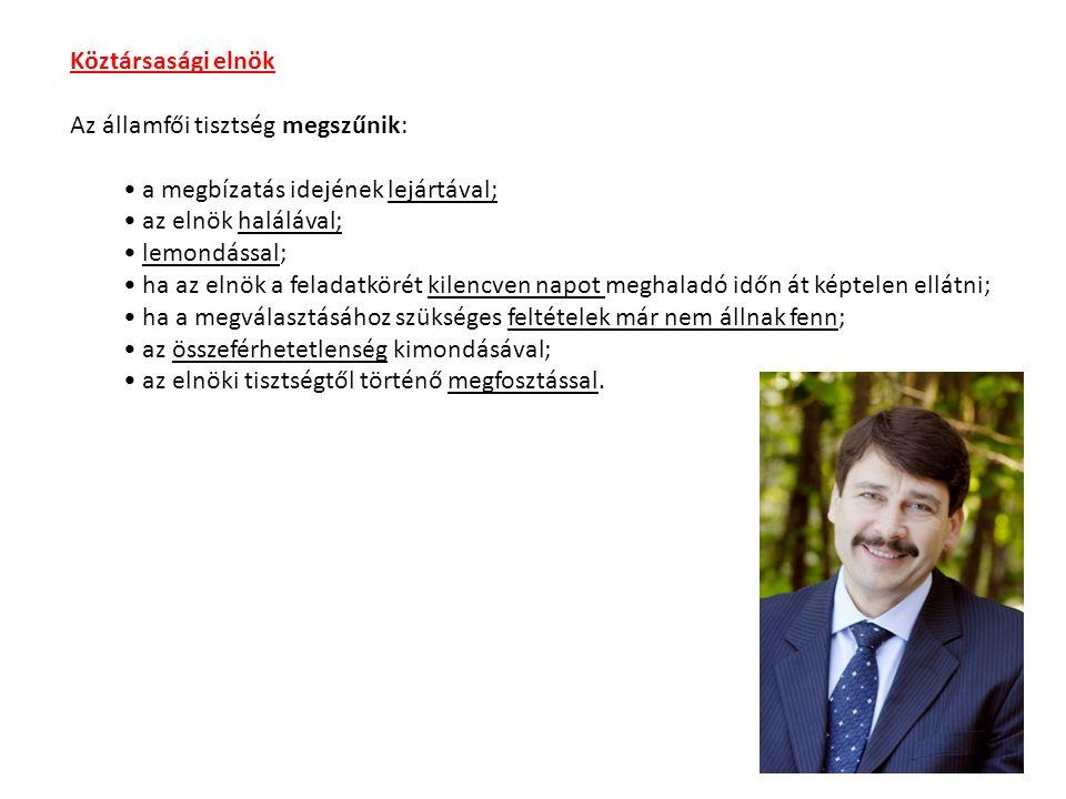 Hivatali időMegjegyzések Szűrös Mátyás 19891989.október 23.