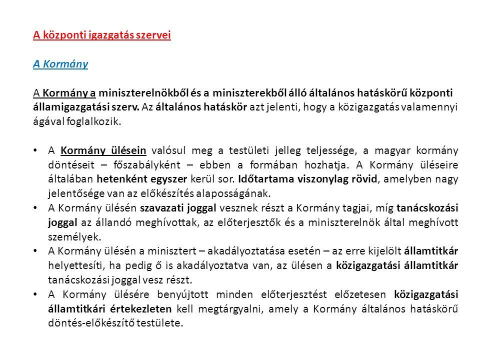 Közigazgatási államtitkári értekezlet napirendje… Kormányülés napirendje…