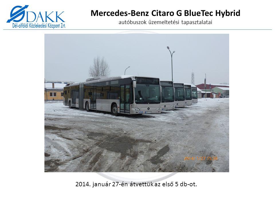 Mercedes-Benz Citaro G BlueTec Hybrid autóbuszok üzemeltetési tapasztalatai 2014.