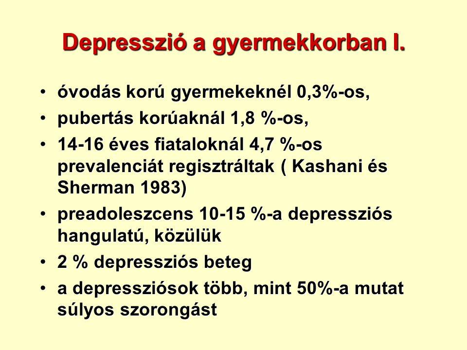 Depresszió a gyermekkorban I.