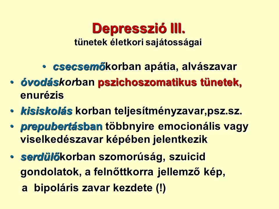 Depresszió III.