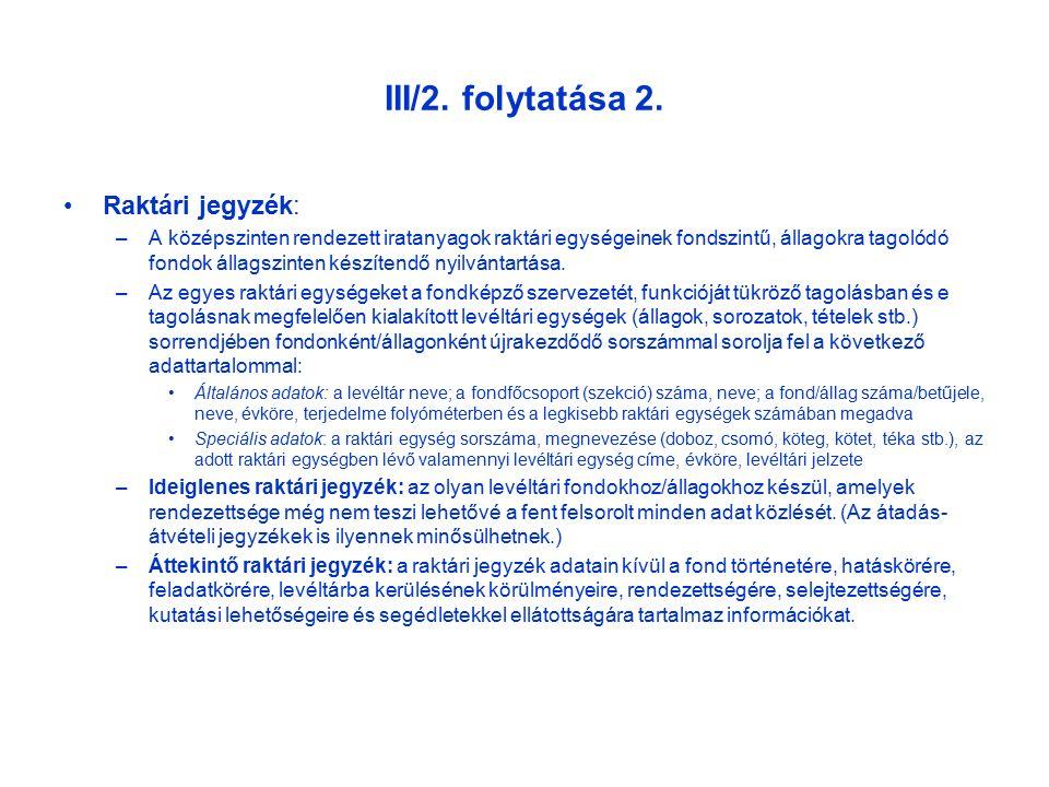 III/2. folytatása 2.