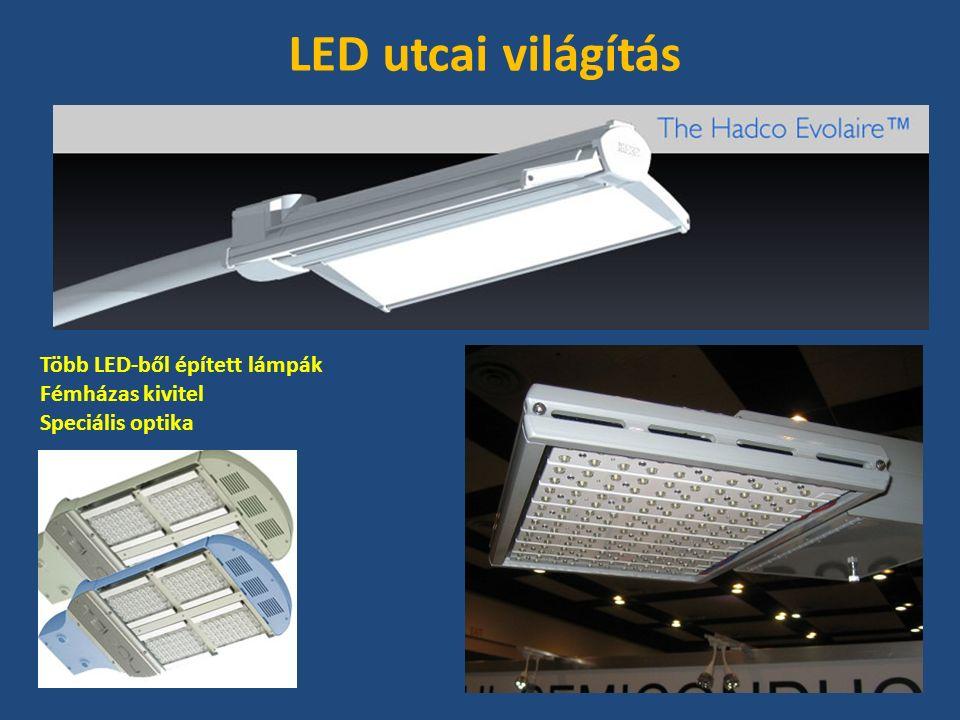 Több LED-ből épített lámpák Fémházas kivitel Speciális optika LED utcai világítás