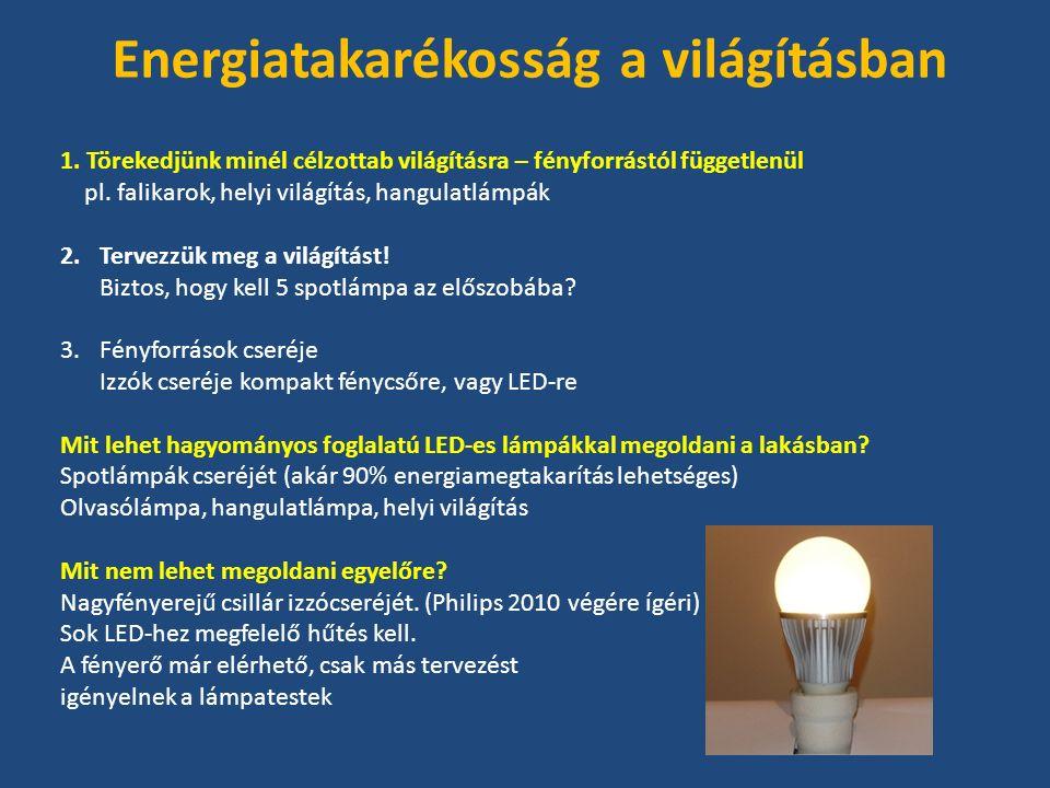 1. Törekedjünk minél célzottab világításra – fényforrástól függetlenül pl.
