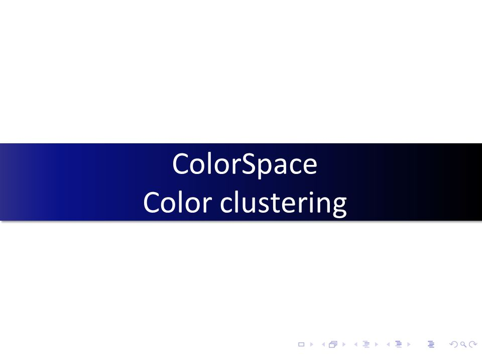ColorSpace Color clustering