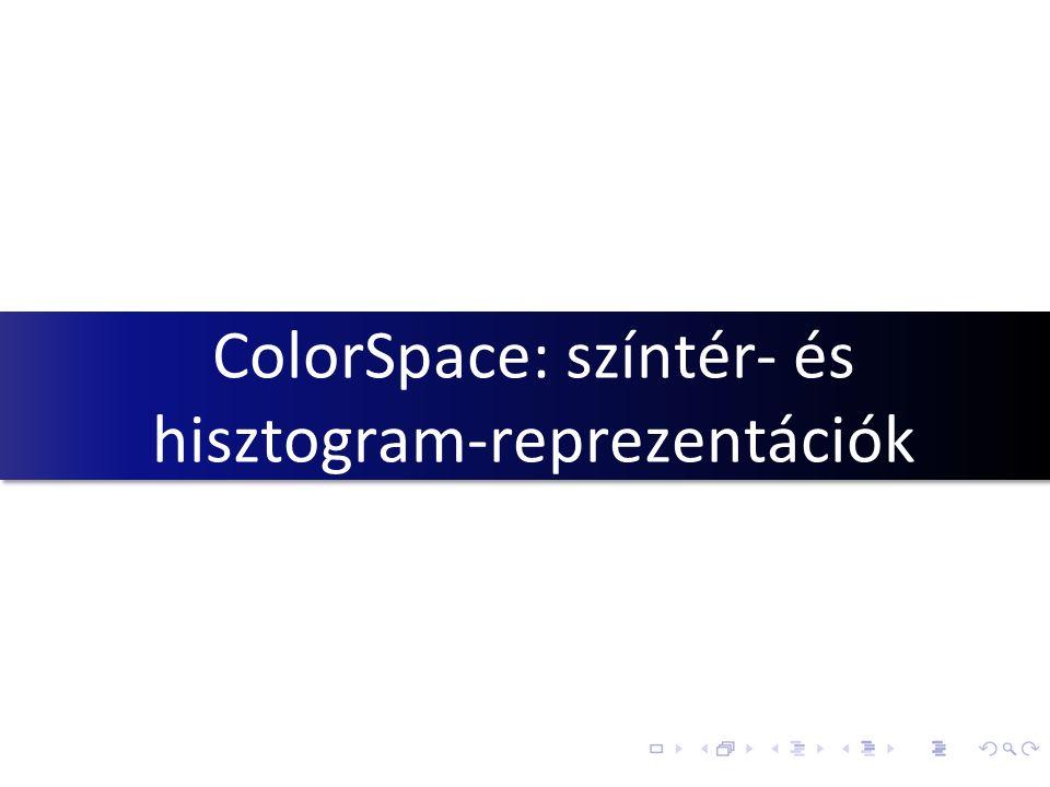 ColorSpace: színtér- és hisztogram-reprezentációk