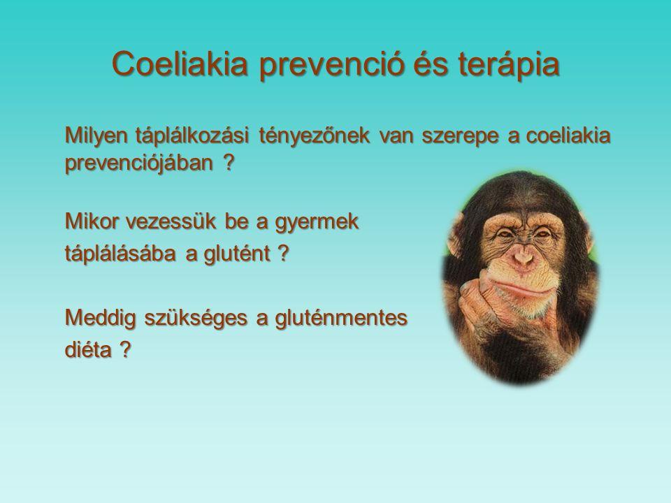 Coeliakia diagnózis 1.1969. Interlaken 3 alkalommal vékonybél biopsziából 2.1990.