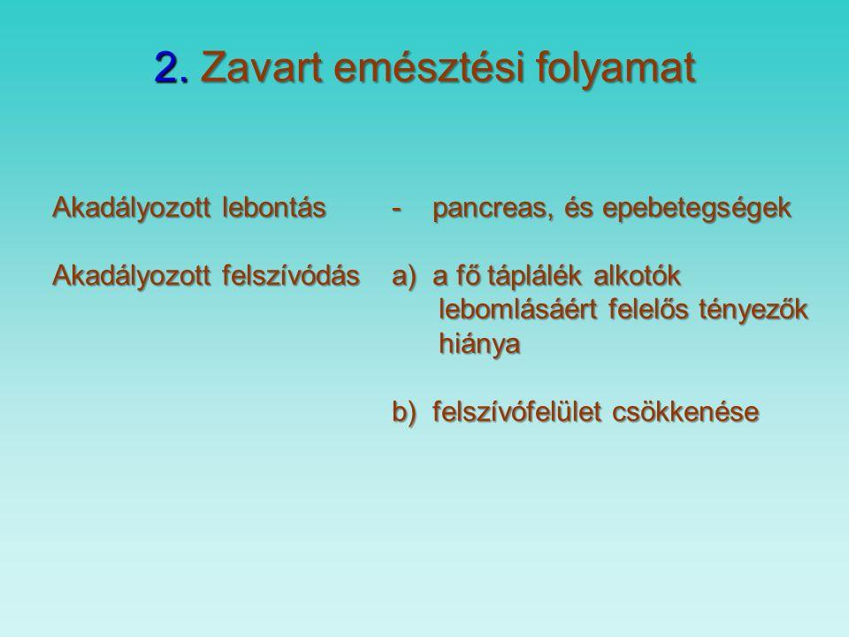 B) Secunder lactose intolerancia fajtái 1.Akut gastroenteritis főként csecsemőkorban 1-2 hét anyatej + lactose enzim – laktóz mentes tápszer 2.Coeliakia megszorítás csak a mukosa rendeződéséig kell 3.