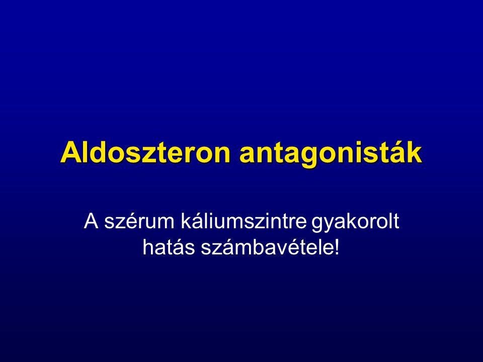 Aldoszteron antagonisták A szérum káliumszintre gyakorolt hatás számbavétele!