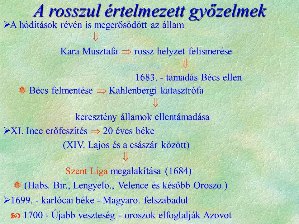  A hódítások révén is megerősödött az állam  Kara Musztafa  rossz helyzet felismerése  1683.