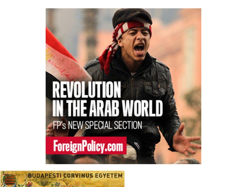 Következmények  Arab öntudat, pán-arabizmus erősödése  Iszlamizmusnak van alternatívája  Hatalmon lévő vezetések részéről engedmények –Jóléti kiadások (Szaúd-Arábia 35 md$) –Lemondás választásokon indulásról (Jemen) –Szükségállapot eltörlése (Algéria) –Kormány leváltása (Jordánia) –Miniszterelnök lemondása (Tunézia) –Gyors reformok ígérete