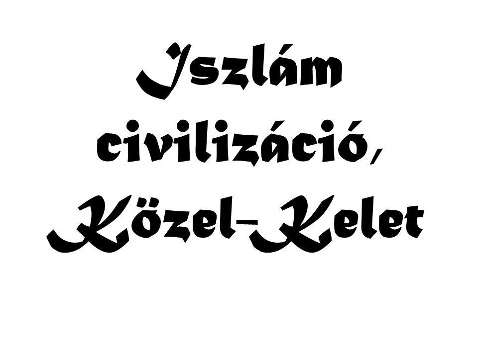 Vallási-civilizációs jelleg hangsúlyozása Vallási szervezetek (iszlamisták: Hamász, Hezbollah stb., zsidó fundamentalisták) Az egész civilizáció/vallás képviselete - minél szélesebb támogatás nyerése (Szaddám) Saját civilizáció/vallás felértékelése, a másik degradálása (Izrael) Reiszlamizáció: korábbi szekuláris mozgalmak és szervezetek iszlamizálódása - palesztin mozgalom