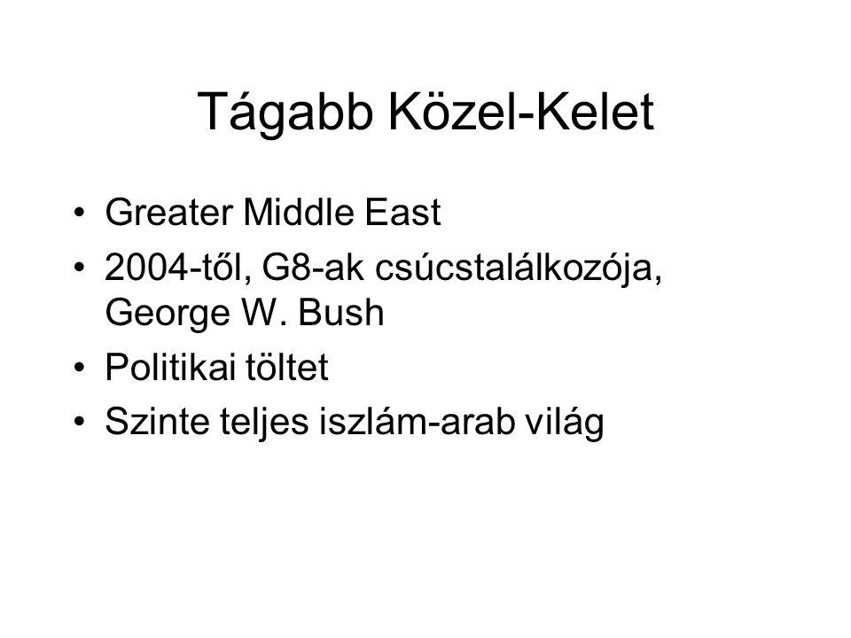Tágabb Közel-Kelet Greater Middle East 2004-től, G8-ak csúcstalálkozója, George W.