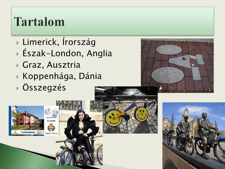  Limerick, Írország  Észak-London, Anglia  Graz, Ausztria  Koppenhága, Dánia  Összegzés