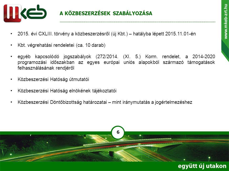 17 Nemzeti nyílt (összefoglaló tájékoztatóval induló) eljárás – Kbt.
