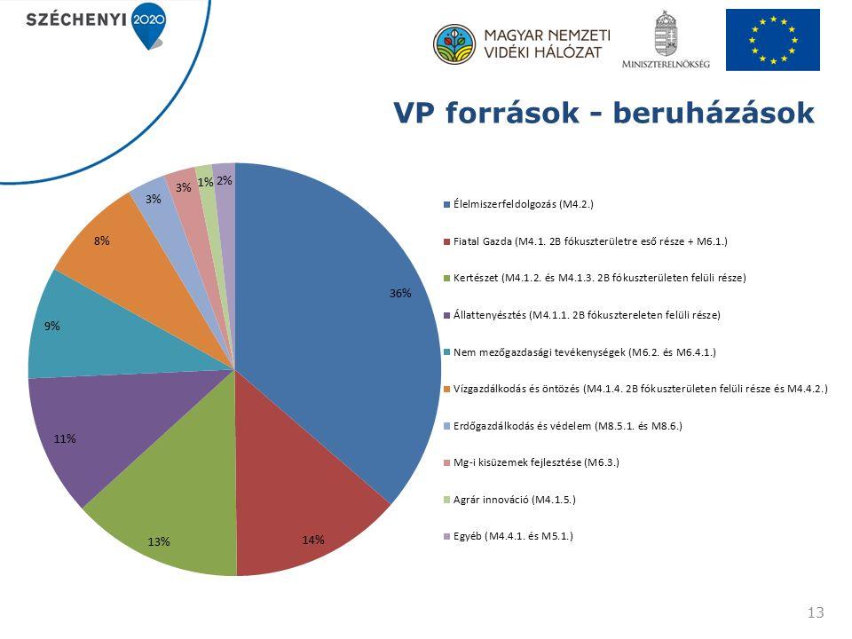 VP források - beruházások 13