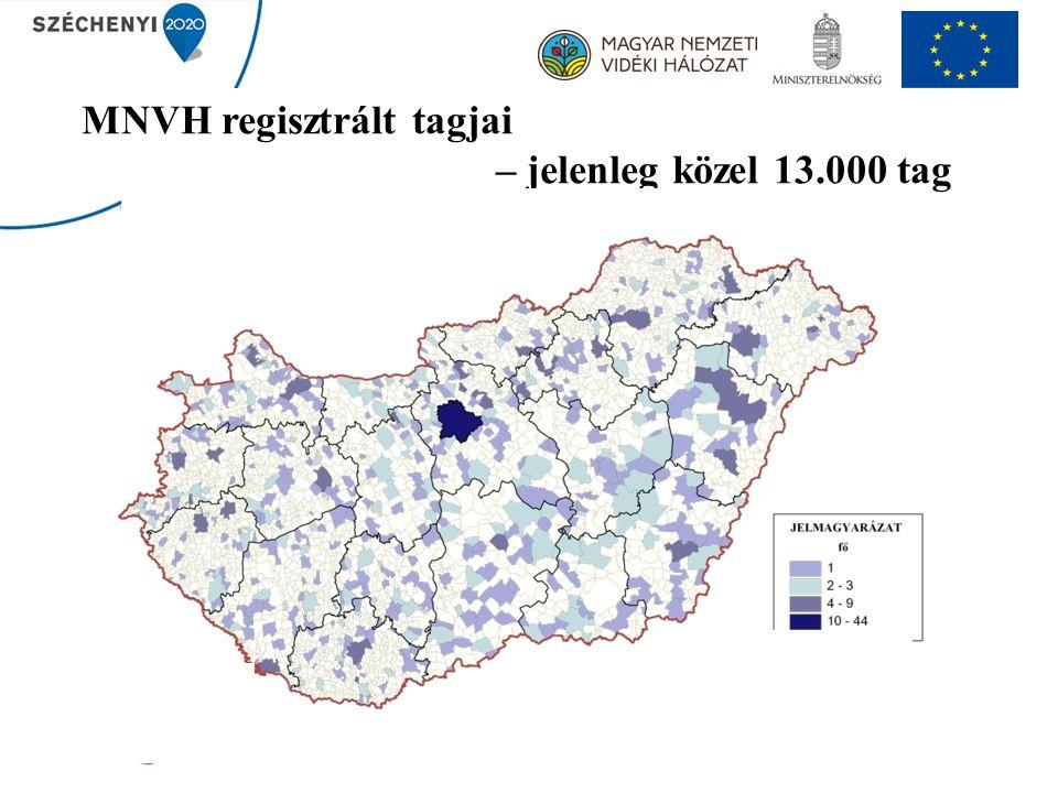 MNVH regisztrált tagjai – jelenleg közel 13.000 tag