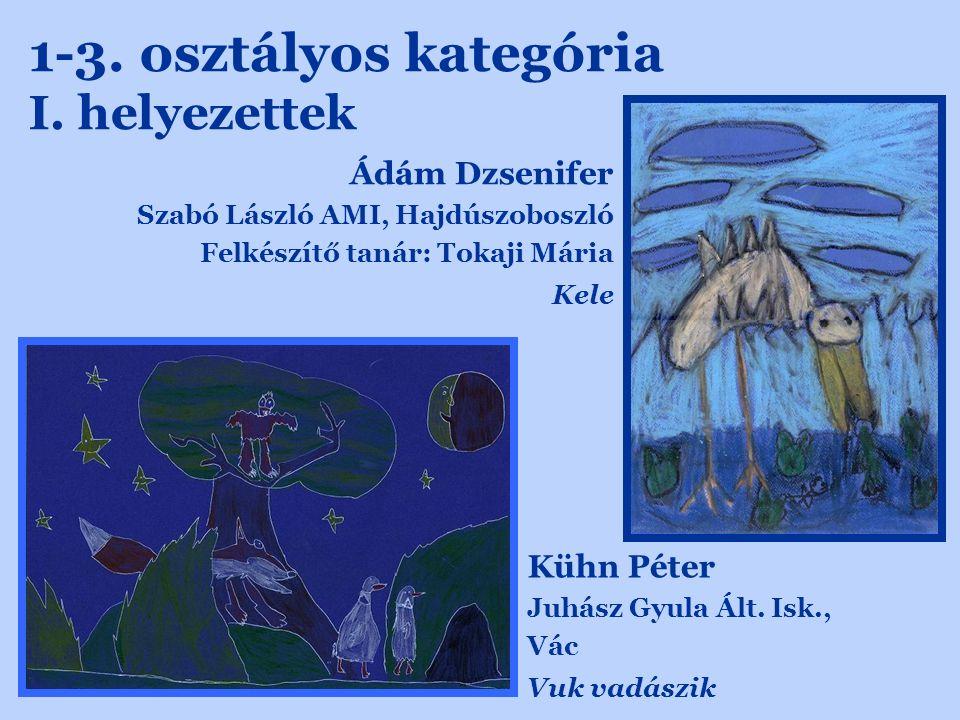 1-3. osztályos kategória I. helyezettek Kühn Péter Juhász Gyula Ált.