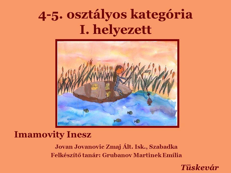 4-5. osztályos kategória I. helyezett Imamovity Inesz Jovan Jovanovic Zmaj Ált.