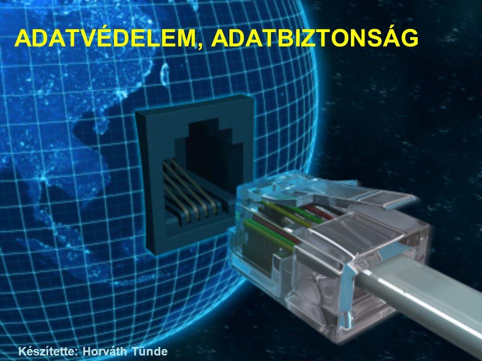 ADATVÉDELEM, ADATBIZTONSÁG Készítette: Horváth Tünde