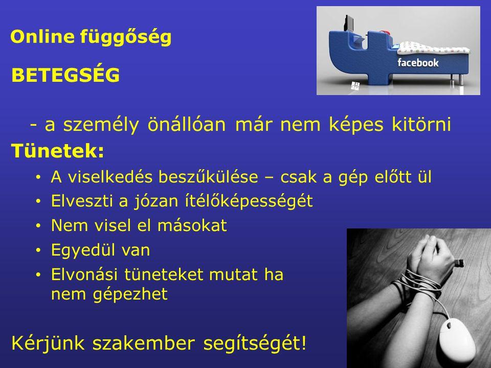 Internet veszélyeiről és biztonságos használatáról gyerekeknek 13-16 éves fiataloknak szülőknek www.saferinternet.huwww.saferinternet.hu oldalról tölthetők le.