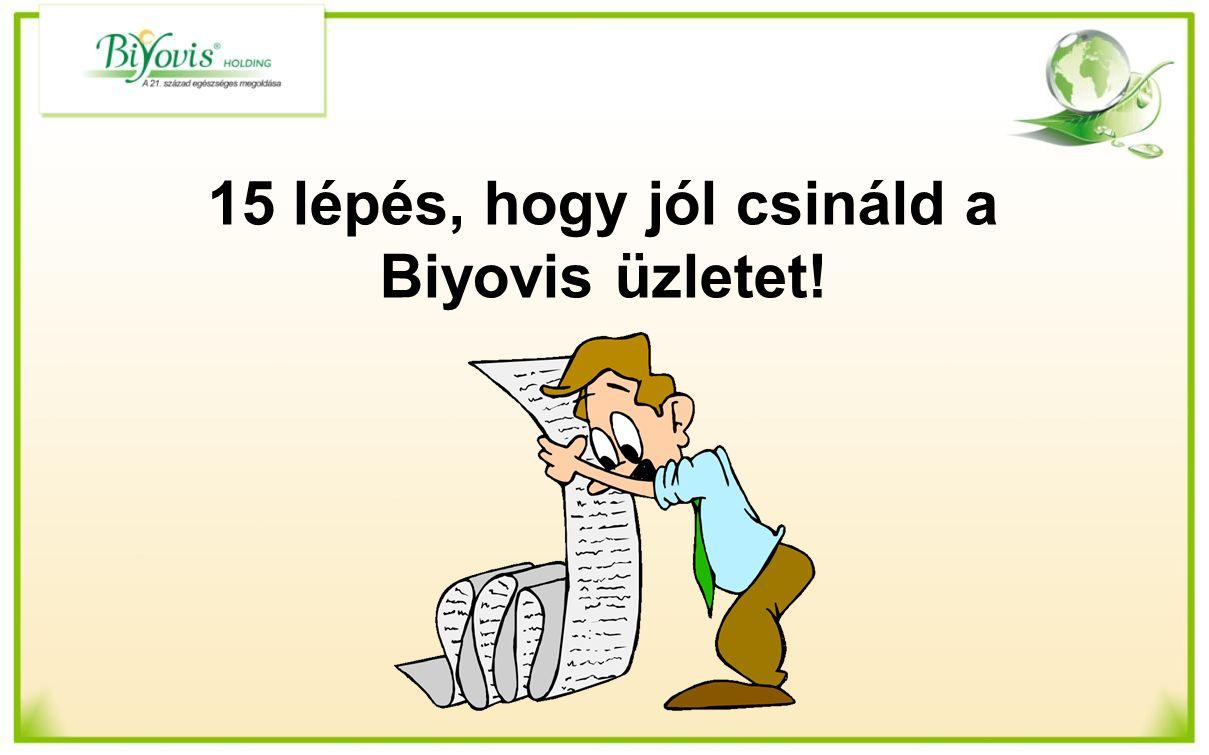 15 lépés, hogy jól csináld a Biyovis üzletet!